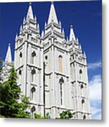 Salt Lake Mormon Temple Metal Print