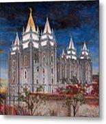 Salt Lake Temple Metal Print by Jeff Brimley