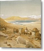 Salt Lake - Thibet, From India Ancient Metal Print