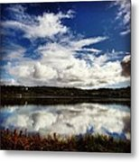 Salt Pond Mirror  Metal Print