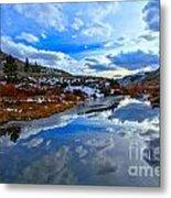 Salt River Reflections Metal Print