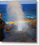 Salt Spray Rainbow Metal Print
