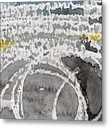 Saltwater- Abstract Painting Metal Print