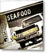 Salty Oysters - Textured Metal Print