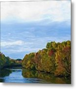 Saluda River In The Fall Metal Print