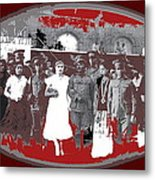 Saluting With Sabers Military Ceremony Unknown Location Or Date-2014 Metal Print