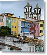 Salvador Brazil The Magic Of Color Metal Print