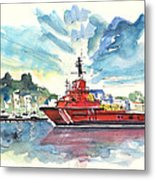 Salvage Ship In Cartagena Metal Print
