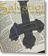 Salvation By His Cross Isaiah Metal Print by Robyn Stacey