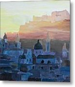 Salzburg At Dusk Metal Print