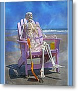 Sam Enjoys The Beach -- Again Metal Print