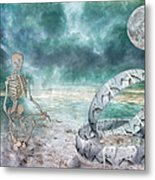 Sam Meditates With Time One Of Two Metal Print