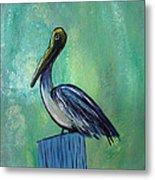 Sam The Pelican Metal Print