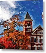 Samford Hall In The Fall Metal Print by Victoria Lawrence
