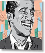 Sammy Davis Jr Pop Art Metal Print