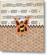 Sammy The Honey Bee Metal Print
