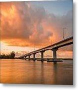 Samoa Bridge At Sunset Metal Print