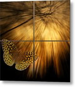 Sample Paneled Following The Light Yellow Butterfly Metal Print