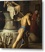 Samson And The Philistines Metal Print