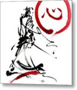 Samurai Enso Circle Wild Fury Bushi Bushido Martial Arts Sumi-e  Metal Print
