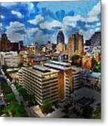 San Antonio Metal Print by Cary Shapiro
