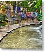 San Antonio Riverwalk Slomo Metal Print
