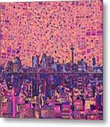 San Antonio Skyline Abstract 5 Metal Print