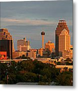San Antonio - Skyline At Sunset Metal Print