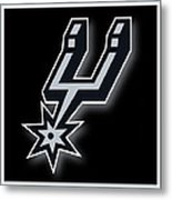 San Antonio Spurs Metal Print by Tony Rubino