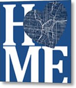 San Antonio Street Map Home Heart - San Antonio Texas Road Map I Metal Print