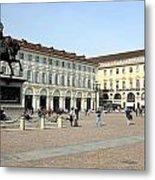 San Carlo Square In Turin Metal Print