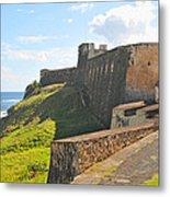 San Christobal Castle Old San Juan Metal Print