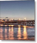 San Clemente Pier At Night Metal Print by Richard Cheski