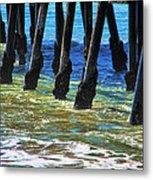 San Clemente Pier Metal Print by Mariola Bitner