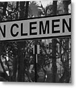 San Clemente Station Sign Metal Print