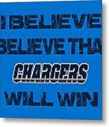 San Diego Chargers I Believe Metal Print