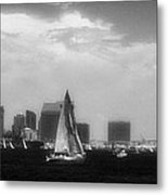 San Diego Harbor In Infrared Metal Print