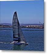 San Diego Harbor Sailing Metal Print