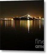San Diego Navy Harbor Night Metal Print