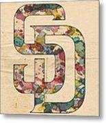 San Diego Padres Logo Vintage Metal Print