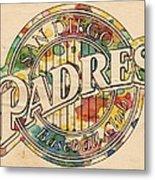 San Diego Padres Poster Art Metal Print