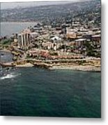 San Diego Shoreline From Above Metal Print
