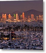 San Diego Skyline Metal Print by Alexis Birkill