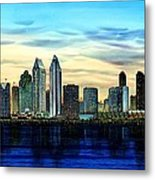 San Diego Skyline And Coronado At Dusk U.s.a Metal Print by John YATO