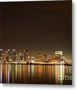 San Diego Skyline Night Metal Print