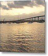 San Diego To Coronado Card Metal Print