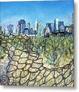 San Francisco And Flowery Vagabond Path Of Yesterday Metal Print
