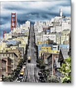 San Francisco Backlot Walt Disney World Metal Print