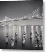 San Francisco Bay Bridge Metal Print by Colin and Linda McKie