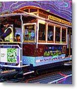 San Francisco Cable Car No. 17 Metal Print